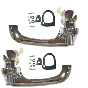 Bronco Falcon Mustang Chrome Outside Exterior Door Handle Set 2pc Dynacorn M3616