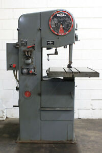 16 Thrt 12 H Doall 1612 h Vertical Band Saw Hyd tbl Vari speed Blade Welder