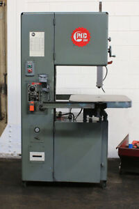 18 Thrt 12 H Grob 4v 18 Vertical Band Saw Vari speed Tbl Feed 3 Hp blade We