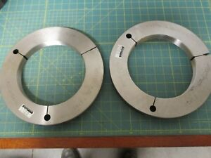 Machinist Tools Ring Thread Gage Go no Go 7 4375 12 Unjs 3a 7 3843 7 378