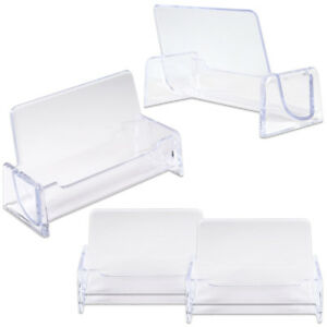 6pcs Clear Acrylic Compartment Desktop Business Card Holder Display Stand