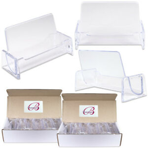 24pcs Clear Acrylic Compartment Desktop Business Card Holder Display Stand