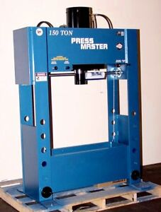 New 150 Ton Deluxe H frame Industrial Hydraulic Press