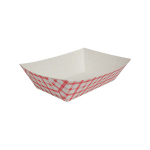 Food Tray Shepherd s Check red 3 0 Lb Fp ft300g 500 Count