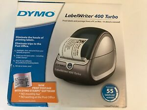 Dymo Labelwriter 450 Turbo Printer With Power Cables Stamps Label Rarely Used