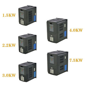 New 7 5kw 4kw 3kw 2 2kw 1 5kw Variable Frequency Drive Inverter Vfd Cnc Product