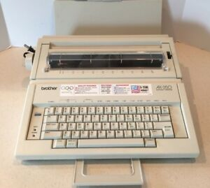 Brother Ax 350 Electronic Typewriter W Manual Works Tested Excellent Condition