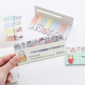 Cute Cat Sticky Notes Memo Pad Mini Sticker Diary planner Office School Supplies