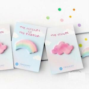 Rainbow Sticky Memo Pad Colorful Notes Diary Sticker Office School Kits Supplies