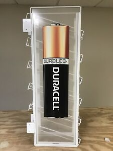 Duracell Store Display Rack Battery Holder Toys R Us End Shelf Unit New