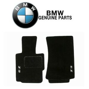 For Bmw E36 Z3 96 02 Set Of 2 Front Carpet Floor Mats Black Genuine 82111470158