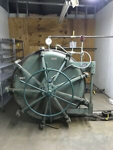 12 Ft Autoclave retort With Racks Insulated