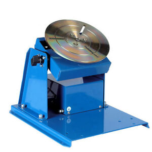 110v Rotary Welding Positioner Turntable Table Mini Chuck Lathe Jaw from Us