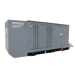Used Natural Gas Generator For Sale 300 Kw Generac Model Mg0300 277 480 Oh0924