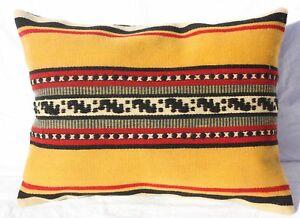 Turkish Kilim Rug Lumbar Pillow 24 X 16 Kilim Lumbar Cushion Cover Striped