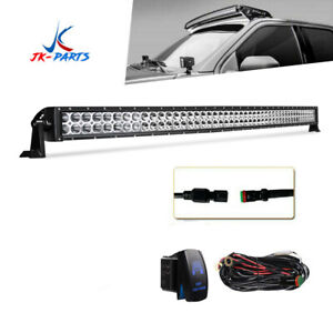 50 288w Flood Spot Beam Led Light Bar Curved With Mounting Brackets Ford F150