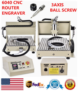 3axis 6040 Cnc Router Engraver Drilling Engraving Carving Machine Ball Screw Usa