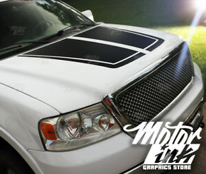 Ford F150 2009 2014 Hood Blackout Split Pinstripe Decal Racing Rally Stripes