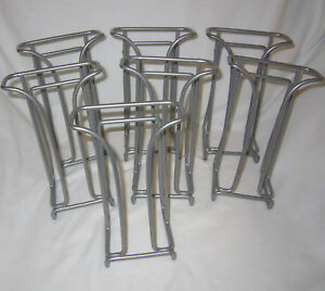 Lot Of 7 Tri fold Brochure Counter Top Gray Wire Display Stand Rack Literature