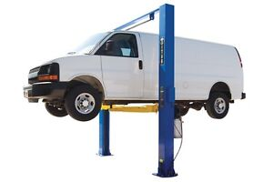 New Titan 10 000 Lbs 2 post Auto Lift clearfloor Asymmetric Arms Direct Drive