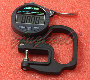 Gauge Metal Detector Professional 0 001mm Digital Micron Thickness 0 12 7mm