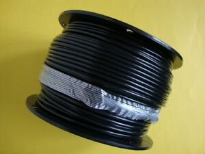 Black Vinyl Coated Wire Rope Cable 1 4 5 16 7x19 250 Ft Reel