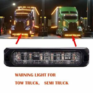 Led Emergency Warning Tow Truck Semi Truck Pickup Roof Strobe Light Bar Amber