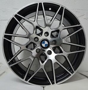 Set Of 4 Wheels 18 Inch Staggered Black Machined Rims Fits 5x120 Bmw Z4 M