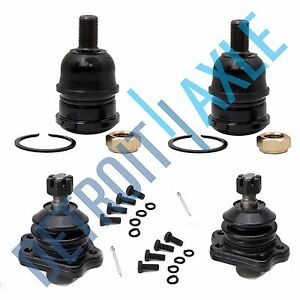 Front Upper Lower Ball Joints For Nissan 86 94 D21 95 97 Pickup 2wd 3 0l 2 4l