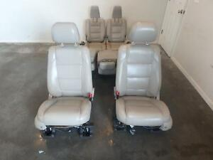 13 15 Ford Explorer Front 2nd 3rd Row Rear Seat Grey Leather Power Oem