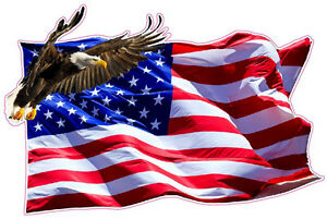 American Flag Soaring Eagle Version 2 Xxx Large 48 Decal Free Shipping