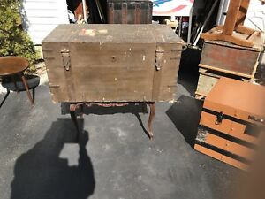 Antique Steamer Trunk Vintage English Military Trunk With Photos