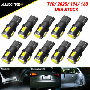 10x 194 168 T10 Xenon White 5630 Led Interior Map Dome Marker License Light Bulb