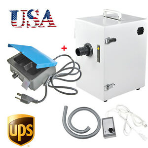 Us Single row Dental Dust Collector Vacuum Cleaner 3 well Analog Wax Heater Pot