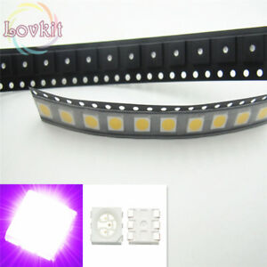 1000pcs Lots 5050 Purple uv Smd Led Plcc 6 3chip Super Bright Light