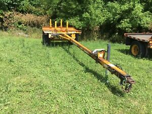 Heavy Duty Single Axle Equipment Pole Trailer Long Tongue 9990 Gvwr