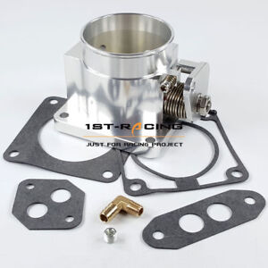 New Performance Billet 75mm Throttle Body For Ford Mustang Gt Cobra Lx 5 0l Tps
