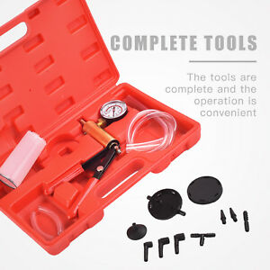 Kenwell Car Hand Held Vacuum Pressure Pump Tester Set Brake Fluid Bleeder Kit