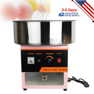 Cotton Candy Maker Machine Floss Commercial Carnival Party Fluffy Sugar 110v Usa