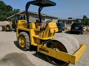 1990 Bomag Bw 142 d Vibratory Smooth Drum Compactor Roller