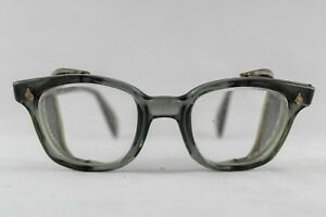 Vintage American Optical Safety Glasses Wire Mesh Side Shields
