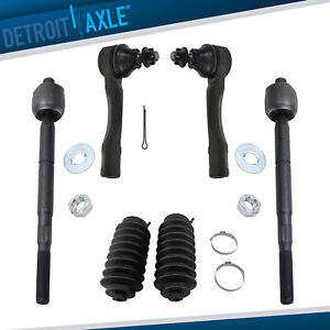 6pc Front Inner Outer Tie Rod W Boots For 2001 2002 2003 2004 2005 Lexus Is300