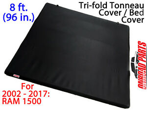 Tri Fold Long Bed 8ft Tonneau Cover 2002 2017 Ram 1500 2010 2013 Ram Hd Tonno