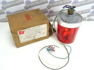 Federal Signal Vitalite Red Rotating Beacon Light 121s 120r new In Box 120vac