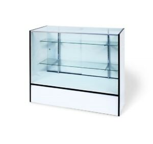 S e White Retail Glass Display Showcase 70 18x38 With Mirror Door