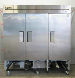 True Manufacturing Freezer T 72f Commercial Solid 3 Door Stainless Reach In
