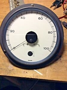 Panel Analog Meter oi dc Milliamp Meter 0 To 100 Ma Full Scale 6 Dia Bezel