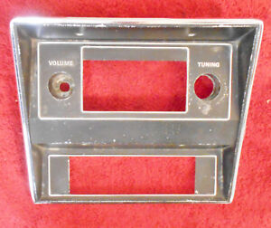 1971 1972 1973 Mustang Fastback Mach1 Coupe Convert Orig Radio Heater Trim Bezel