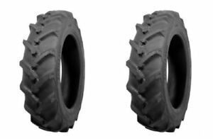 two Atf Brand 8 16 8x16 I 3 Traction Lug Tractor Tires Tubes 6 Ply Rated