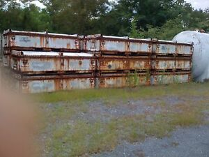 Used Steel Shipping Storage Container W lid104 x38 x26